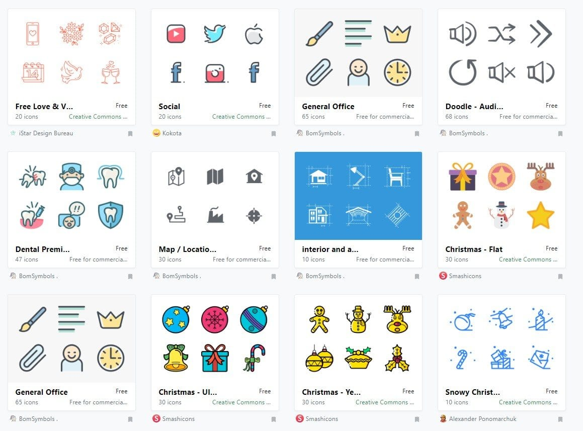 New free icons set provided by IconFinder | AppDrag